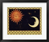 Framed Sun & Moon & Stars
