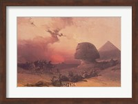 Framed Approach of the Simoon, Desert of Gizeh