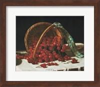 Framed Basket of Cherries