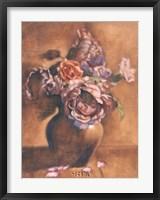 Vintage Chic Roses I Framed Print