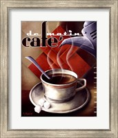 Framed Cafe de Matin