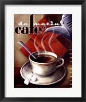 Cafe de Matin Framed Print