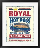 Royal Hot Dogs Framed Print