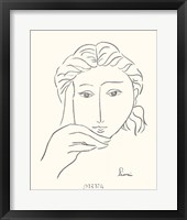 Framed Woman's Face Sketch I