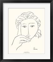 Woman's Face Sketch I Framed Print
