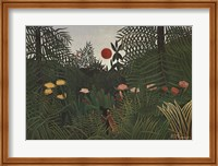 Framed Jungle Sunset