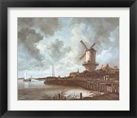 Framed Windmill Near Wijk