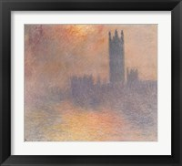 Framed London Houses of Parliament