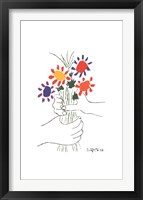 Bouquet with Hands Framed Print