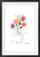 Framed Bouquet with Hands