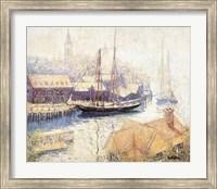 Framed Gloucester Harbor, 1913