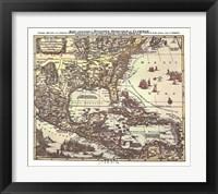 Framed Map of South Eastern America