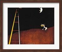 Framed Dog Barking at the Moon