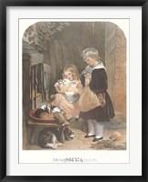 Framed Children and Rabbits