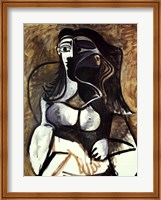Framed Woman in an Armchair
