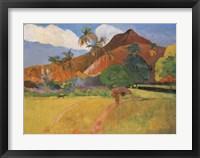 Framed Tahitian Landscape, 1891