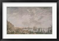 Vue de la Ville et du Port de Bordeaux Framed Print