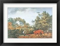 Framed American Farm Scenes