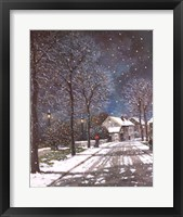 Framed Village in Winter