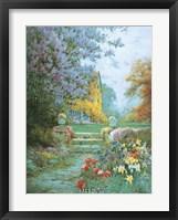 Framed Lilacs & Iris
