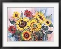 Basket of Sunflowers Framed Print