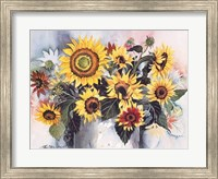 Framed Country Sunflowers