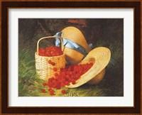 Framed Harvest of Cherries, 1866