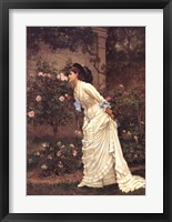 Framed Girl and Roses