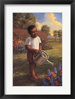 Framed Child with Watering Can