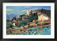 Framed Riviera Hillside