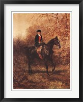 Framed Girl Riding Side-Saddle