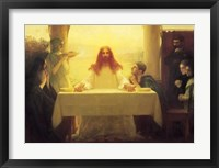 Framed Christ and the Disciples at Emmaus