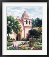 Framed Carmel Mission Fountain
