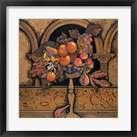 Memories of Provence/Grapes & Persimmons Framed Print