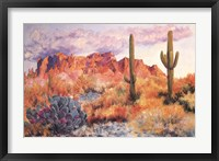 Framed Superstition Sunset in March