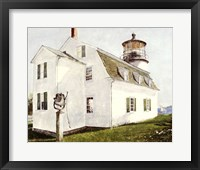 Framed Lighthouse with Bell