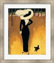 Framed Parisienne (La Dame au Chien)