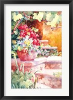 Steps of Provence Framed Print