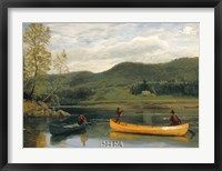 Framed Men in Two Canoes