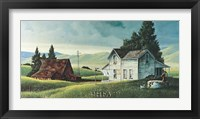Washday in the Valley Framed Print