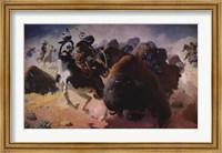 Framed Buffalo Hunt