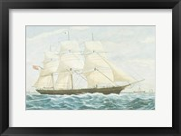 Framed Clipper Ship Mirage