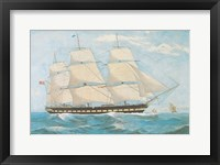 Framed Clipper Ship Shannon