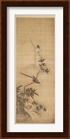 Framed Birds on a Plum Blossom