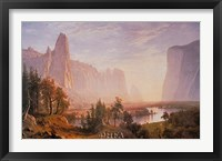 Framed Yosemite Valley
