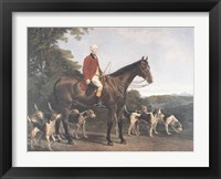 Mr. Williamson, Huntsman to His Grace Framed Print
