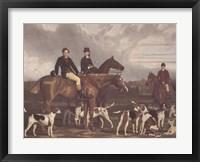 The Hevthorp Hunt Framed Print