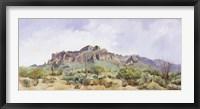 Framed Superstition Mountain