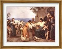 Framed Christ Blessing the Children