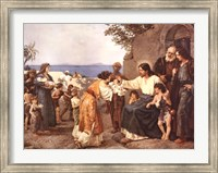 Framed Christ Blessing the Children